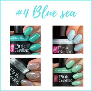 Colores azul y verde oferta Pink Gellac