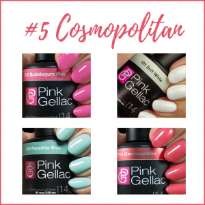 Colores de verano en esmaltes de gel permanente de Pink Gellac
