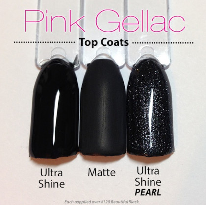 Diferencia entre acabados Top Pink Gellac brillante perla