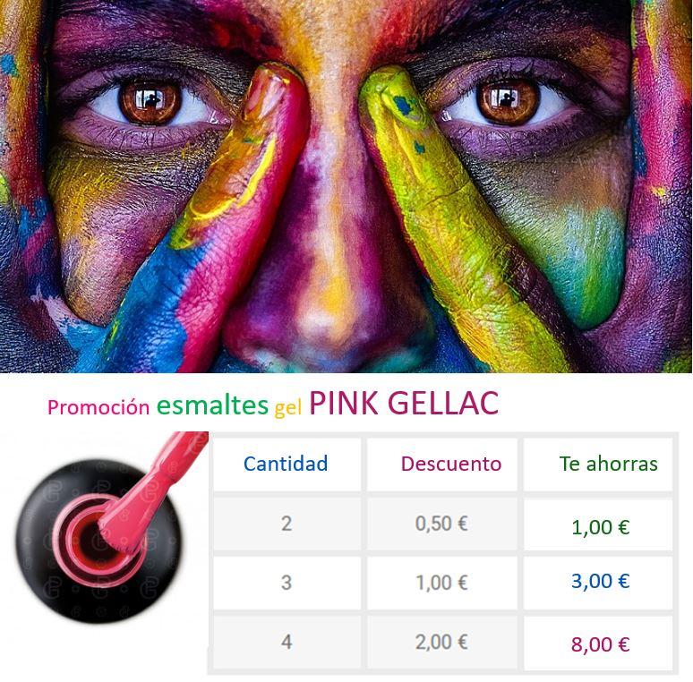 oferta / promoción de esmaltes de gel Pink Gellac