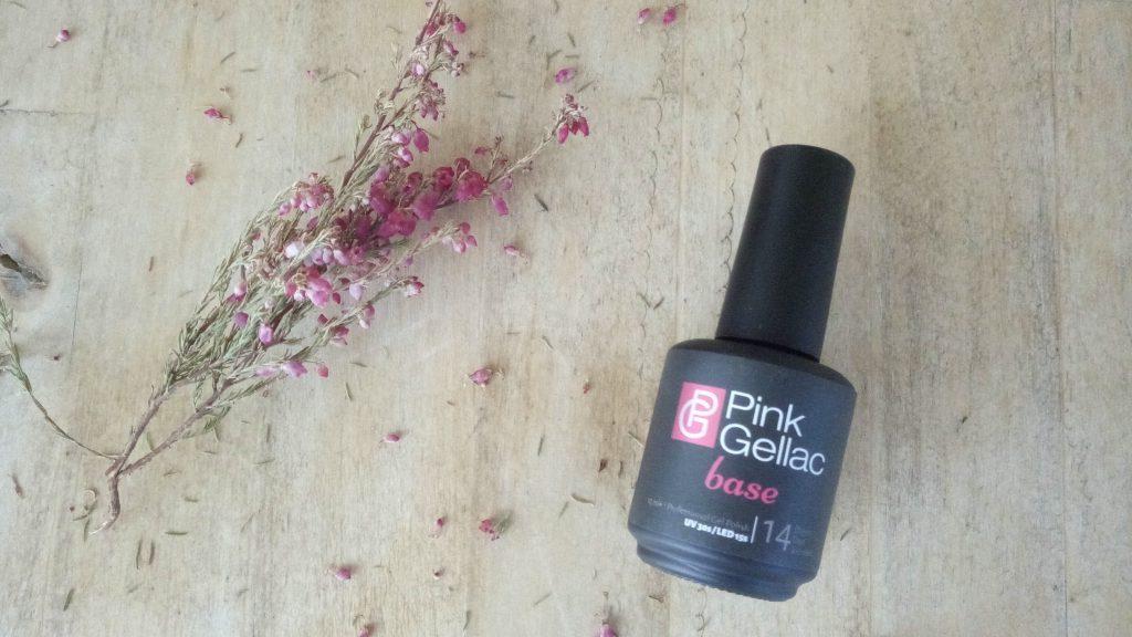 Base de Pink Gellac. Manicura de esmaltes de gel permanente