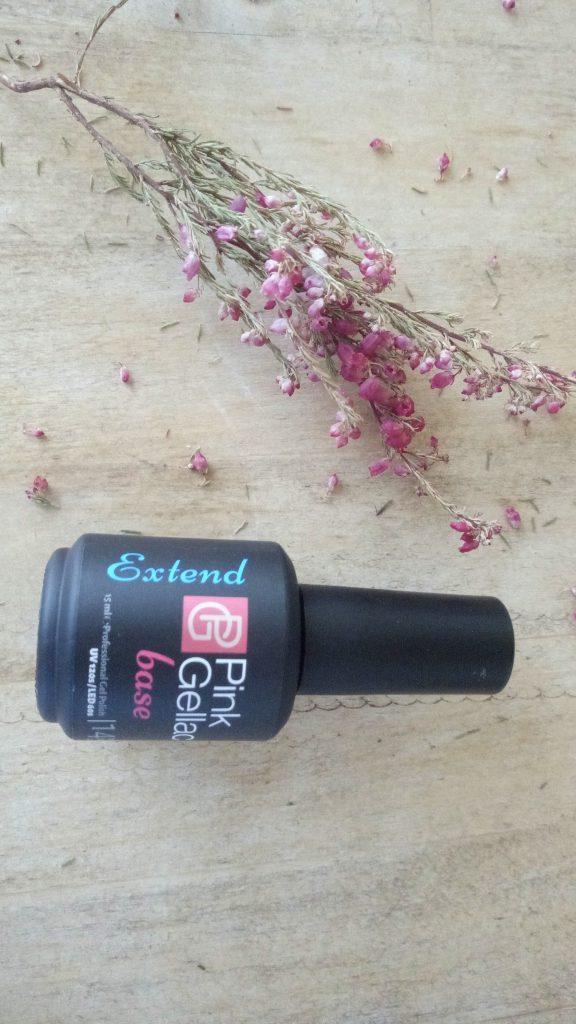 Base Extend de Pink Gellac la base para esmalte de gel permanente uñas.