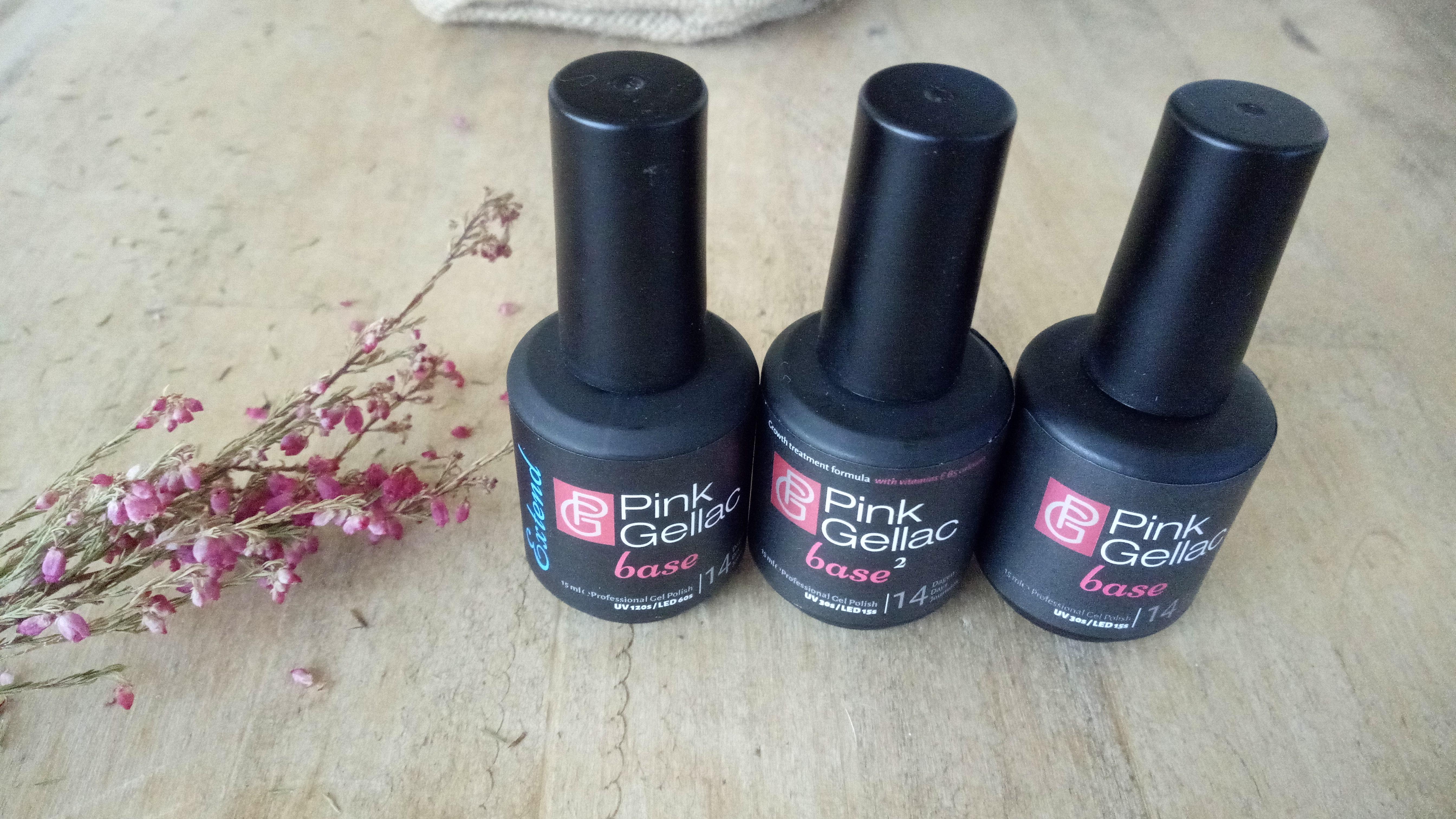 3 tipos de base de Pink Gellac para la manicura de ñas de gel permanente