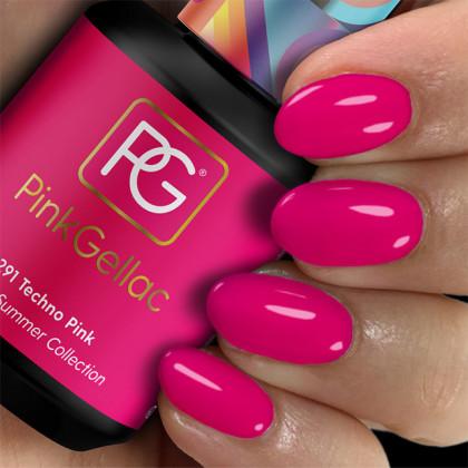 Estilo Techno Pink 291 esmalte gel permanente