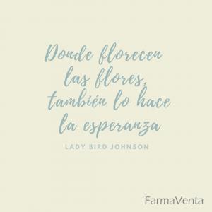 Donde florecen las flores, también florece la esperanza