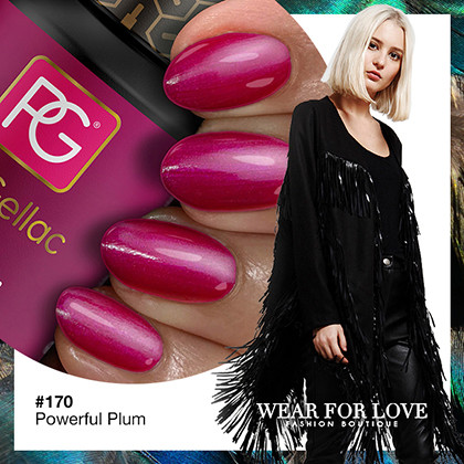170 Powerful Plum color rosa intenso esmalte gel permanente