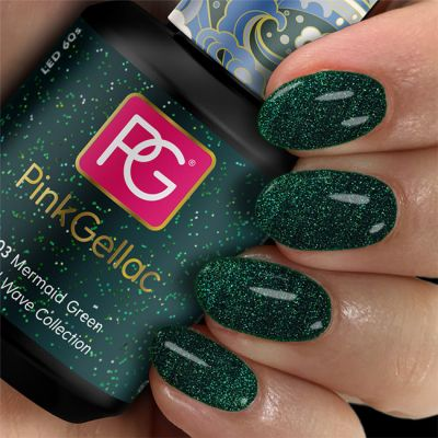 303 Mermaid Green esmalte en gel permanente verde oscuro